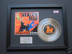"DEACON BLUE - Closing Time 7"" platinum DISC with Cover"